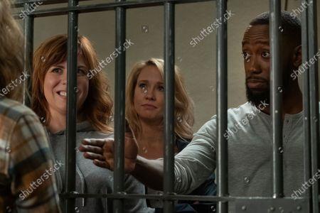 Sarah Burns as Kaylie, Anna Camp as Brooke and Lamorne Morris as Sean
