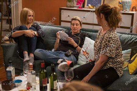 Anna Camp as Brooke, Lauren Palmigiano Director and Sarah Burns as Kaylie