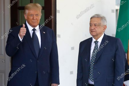 Donald Trump hosts Mexican President Andres Manuel Lopez Obrador, Washington DC