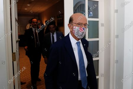 Wilbur Ross, US commerce secretary, wears a protective mask while arriving to a signing ceremony in the Rose Garden of the White House in Washington, DC, USA, on 08 July 2020. US President Donald J. Trump is meeting with Mexican president Andres Manuel Lopez Obrador at the White House.