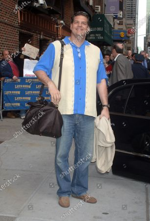 Mike Golic at the Ed Sullivan Theatre for an appearance on 'The Late Show with David Letterman'