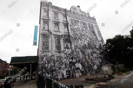 Editorial image of The Chronicles of New York City mural, Brooklyn, USA - 07 Jul 2020