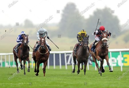 Dame Malliot ridden by Hollie Doyle (right) wins the Princess Of Wales's Tattersalls Stakes during day one of The Moet and Chandon July Festival at Newmarket Racecourse. PA Photo. Issue date: Thursday July 9, 2020. See PA story RACING Newmarket. Photo credit should read: David Davies/PA Wire, supplied by Hugh Routledge.