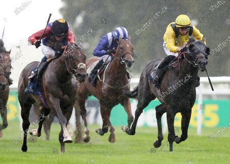 Tactical ridden by William Buick (left) wins the Tattersalls July Stakes during day one of The Moet and Chandon July Festival at Newmarket Racecourse. PA Photo. Issue date: Thursday July 9, 2020. See PA story RACING Newmarket. Photo credit should read: David Davies/PA Wire, supplied by Hugh Routledge.