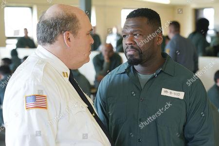 Glenn Fleshler as Frank Foster and 50 Cent as Cassius Dawkins