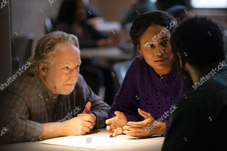 Timothy Busfield as Henry Roswell and Joy Bryant as Marie Wallace