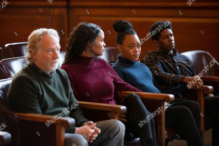 Stock Photo of Timothy Busfield as Henry Roswell, Joy Bryant as Marie Wallace and Tyla Harris as Jasmine Wallace