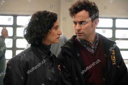 Stock Image of Indira Varma as Safiya Masry and Matt Dellapina as Tom Hansen