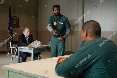 Stock Image of Timothy Busfield as Henry Roswell and Nicholas Pinnock as Aaron Wallace