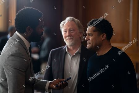 Stock Photo of Nicholas Pinnock as Aaron Wallace, Timothy Busfield as Henry Roswell and Brandon J Dirden as Darius Johnson