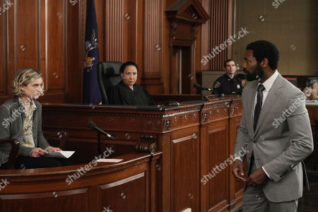 Lizzy DeClement as Molly Davison, Jade Wu as Judge Julie Tanaka and Nicholas Pinnock as Aaron Wallace