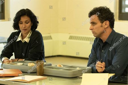 Stock Photo of Indira Varma as Safiya Masry and Matt Dellapina as Tom Hansen