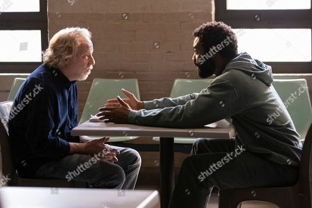 Timothy Busfield as Henry Roswell and Nicholas Pinnock as Aaron Wallace