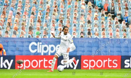 "Helder Costa of Leeds United in front of the ""crowdies"""
