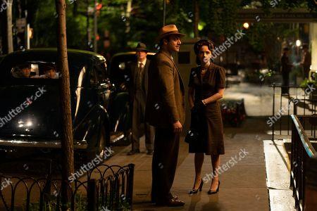 Morgan Spector as Herman Levin and Zoe Kazan as Elizabeth 'Bess' Levin