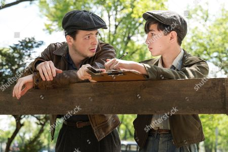 Anthony Boyle as Alvin Levin and Caleb Malis as as Sandy Levin