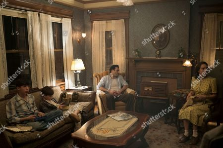 Caleb Malis as Sandy Levin, Azhy Robertson as Phillip Levin, Morgan Spector as Herman Levin and Zoe Kazan as Elizabeth 'Bess' Levin