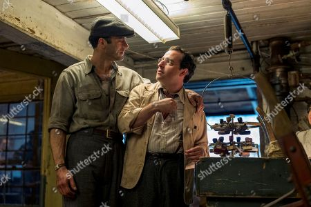 Morgan Spector as Herman Levin and David Krumholtz as Monty Levin