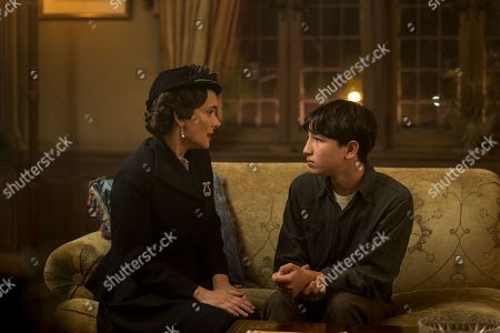 Winona Ryder as Evelyn Finkel and Caleb Malis as Sandy Levin