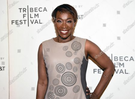 """Joy Reid attends the Tribeca TV screening of """"Rest in Power: The Trayvon Martin Story"""" during the 2018 Tribeca Film Festival in New York. MSNBC has picked Reid to fill the 7 p.m. hour that was vacated by longtime host Chris Matthews in early March. When Reid debuts her new show, """"The ReidOut,"""" on July 20, she will become the only black woman to host a daily prime-time cable news program, a designation that takes on particular significance amid the industry-wide reckoning spawned by the killing of George Floyd and the nationwide protests that followed"""