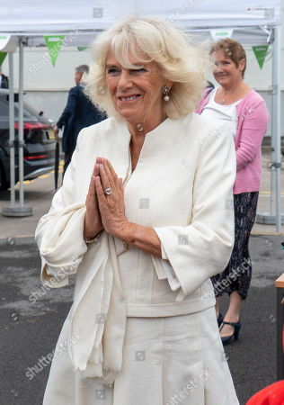 Photo éditoriale de Prince Charles and Camilla Duchess of Cornwall visit to Avonmouth, Bristol, UK - 09 Jul 2020