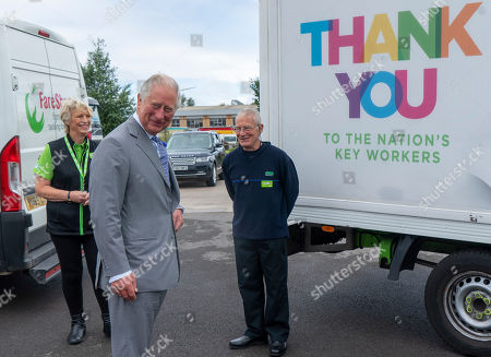 Prince Charles, President of Business in the Community, visits an Asda Distribution Centre to thank staff who have kept the country's vital food supplies moving throughout the coronavirus pandemic.