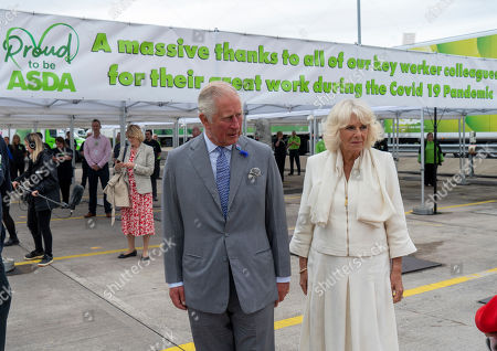 Prince Charles, President of Business in the Community, and Camilla Duchess of Cornwall visited an Asda Distribution Centre to thank staff who have kept the countrys vital food supplies moving throughout the coronavirus pandemic.