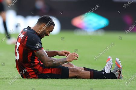 Callum Wilson of Bournemouth reacts after the English Premier League match between AFC Bournemouth and Tottenham Hotspur in Bournemouth, Britain, 09 July 2020.