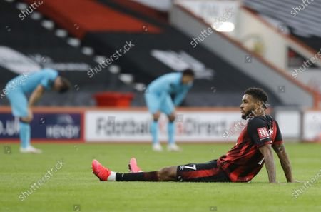 Joshua King of Bournemouth reacts after the English Premier League match between AFC Bournemouth and Tottenham Hotspur in Bournemouth, Britain, 09 July 2020.