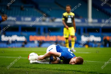 Anthony Gordon of Everton reacts during the English Premier League match between Everton and Southampton in Liverpool, Britain, 09 July 2020.