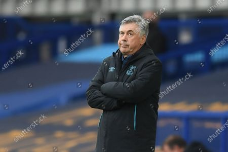 Head coach Carlo Ancelotti of Everton during the English Premier League match between Everton and Southampton in Liverpool, Britain, 09 July 2020.