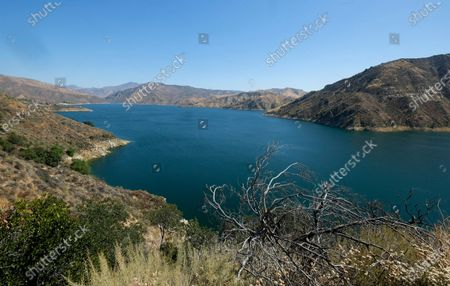 """This photo shows a view of Lake Peru in California. Authorities say former """"Glee"""" star Naya Rivera is missing and being searched for at the lake which is approximately 55 miles northwest of downtown Los Angeles"""