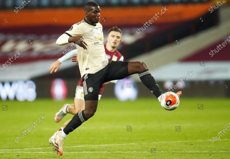 Paul Pogba of Manchester United in action during the English Premier League match between Aston Villa and Manchester United in Birmingham, Britain, 09 July 2020.