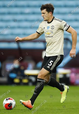 Harry Maguire of Manchester United in action during the English Premier League match between Aston Villa and Manchester United in Birmingham, Britain, 09 July 2020.