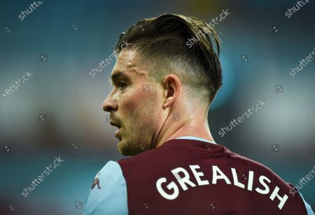 Jack Grealish of Aston Villa reacts after the English Premier League match between Aston Villa and Manchester United in Birmingham, Britain, 09 July 2020.