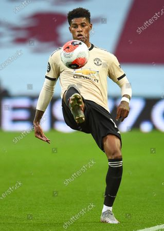 Marcus Rashford of Manchester United in action during the English Premier League match between Aston Villa and Manchester United in Birmingham, Britain, 09 July 2020.