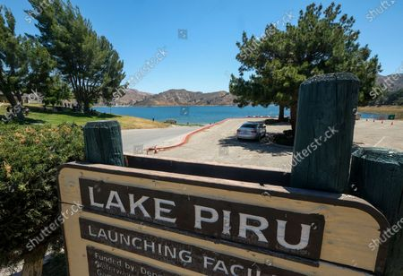 View of Lake Piru, in Lake Piru, Calif. Rivera rented a boat on Wednesday and her 4-year-old son was found alone on the rented boat