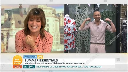 Lorraine Kelly and Mark Heyes