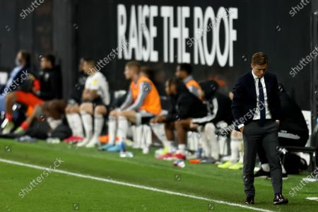 Craven Cottage, London, England; Fulham Manager Scott Parker; English Championship Football, Fulham versus Cardiff City.