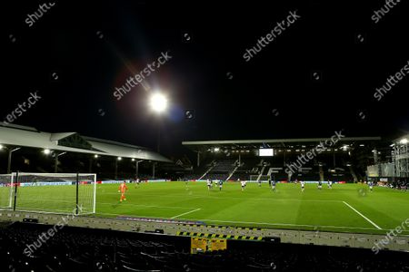 Craven Cottage, London, England; General view of Craven Cottage during the COVID; English Championship Football, Fulham versus Cardiff City.