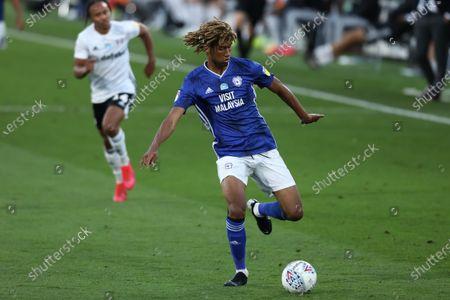Craven Cottage, London, England; Dion Sanderson of Cardiff City; English Championship Football, Fulham versus Cardiff City.
