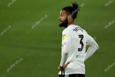 Craven Cottage, London, England; Michael Hector of Fulham watches play move away; English Championship Football, Fulham versus Cardiff City.