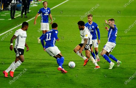 Cyrus Christie of Fulham makes a forward run