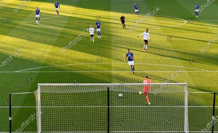 Goalkeeper Marek Rodak of Fulham passes out from his penalty area