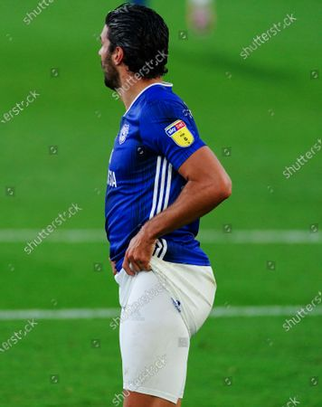 Callum Paterson of Cardiff City reacts after missing a great opportunity