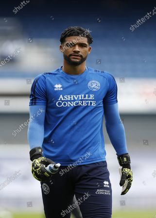 The Kiyan Prince Foundation Stadium, London, England; Goalkeeper Dillon Barnes of Queen Park Rangers looks on; English Championship Football, Queen Park Rangers versus Sheffield Wednesday.