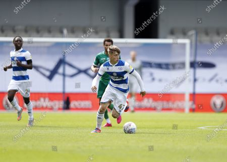 The Kiyan Prince Foundation Stadium, London, England; Jack Clarke of Queens Park Rangers; English Championship Football, Queen Park Rangers versus Sheffield Wednesday.