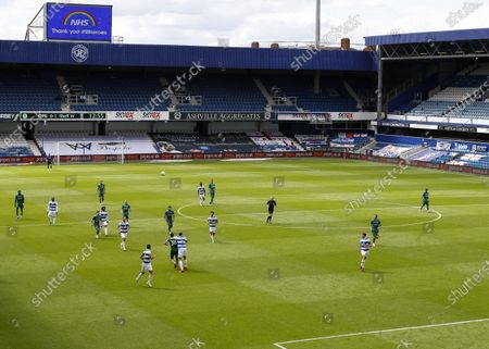 The Kiyan Prince Foundation Stadium, London, England; General view of an empty The Kiyan Prince Foundation Stadium during the 1st half; English Championship Football, Queen Park Rangers versus Sheffield Wednesday.