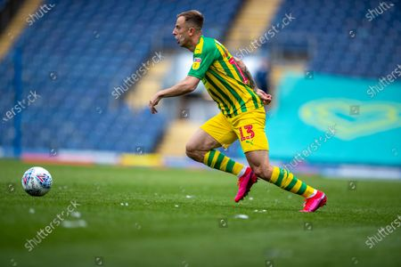 Ewood Park, Blackburn, Lancashire, England; Kamil Grosicki of West Bromwich Albion pushes the ball forward; English Football League Championship Football, Blackburn Rovers versus West Bromwich Albion.