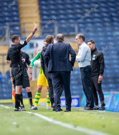 Ewood Park, Blackburn, Lancashire, England; West Brom manager Slaven Bili? can't believe that the referee booked his player Semi Ajayi of West Bromwich Albion; English Football League Championship Football, Blackburn Rovers versus West Bromwich Albion.